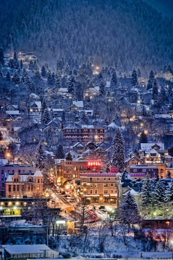 Nelson, British Columbia. Canada. - I want to go here because it looks like one of those little towns people build with a train that runs through it. So simple and peaceful and happy.