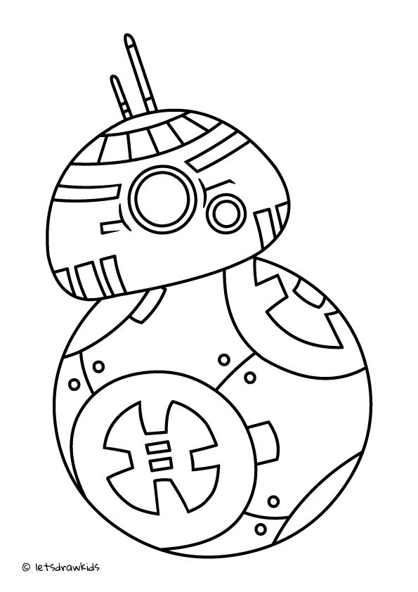 111 best coloring pages let 39 s draw kids images on pinterest for Star wars bb8 coloring pages