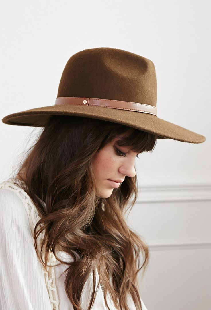 Classic Wide-Brim Wool Fedora | FOREVER21 - 2000098522