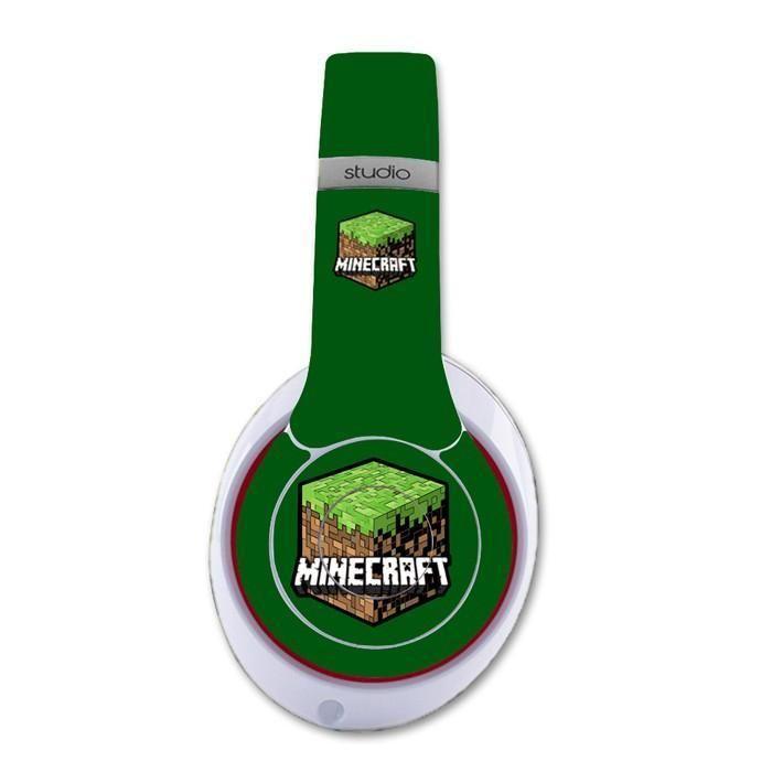 MineCraft decal for Monster Beats Studio 2.0 wireless headphones