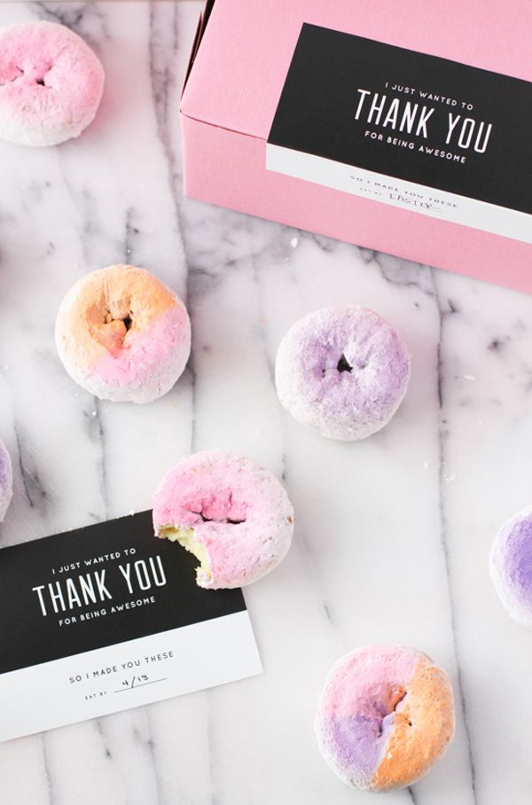 DIY Color Block + Ombre Donuts make a delicious favor for pals who help with your wedding DIY projects [via shopsweetthings.com]