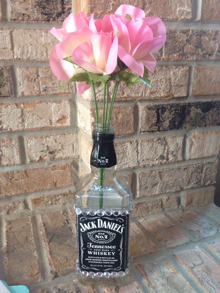 The 25 best bedazzled liquor bottles ideas on pinterest for Liquor bottle vases