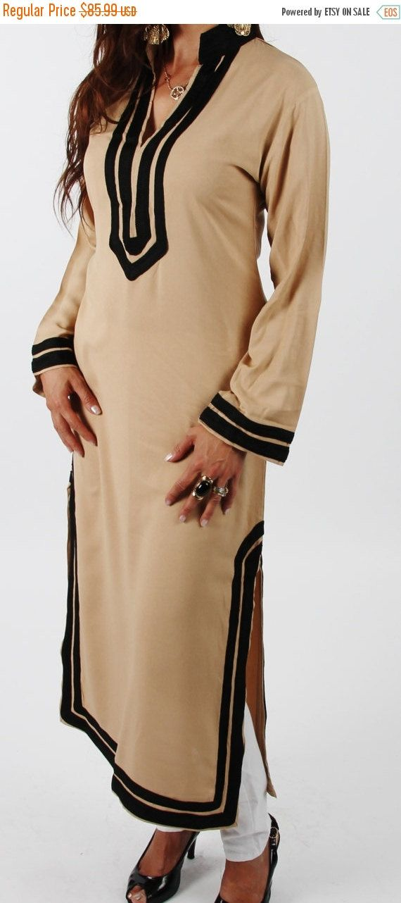 SPRING 10% OFF SALE //// Mariam Style Beige Moroccan Caftan
