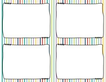 Task Card Frames and Borders FREEBIE - Template