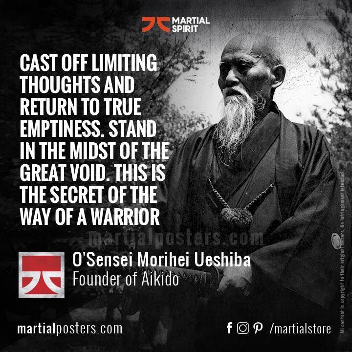Morihei Ueshiba Quote Martial arts, Zen quotes, Aikido