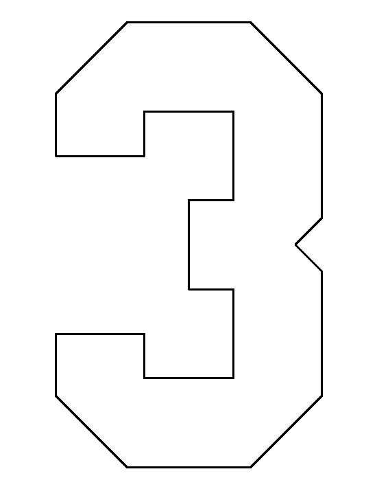 Number 3 pattern. Use the printable outline for crafts ...