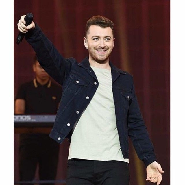 """""""The other day at V. Falling more and more in love with Acne clothing!!"""" - Sam Smith"""