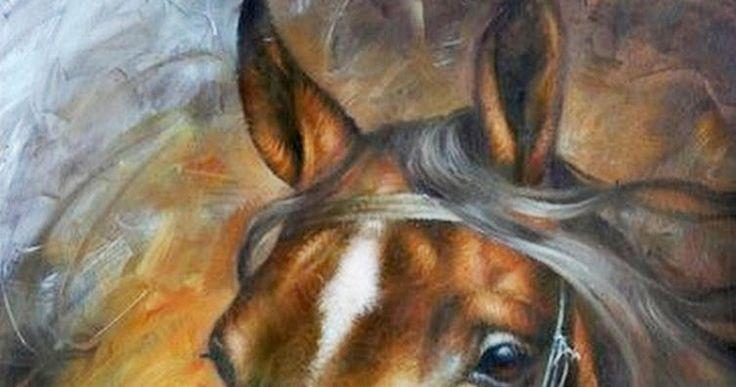 Caballos Pintados al Óleo en Colores Ocres   Caballos del Pintor Arthur Braginsky, Nació en el Año 1965,  Mukacheve, Transcarpatia, Ucran...