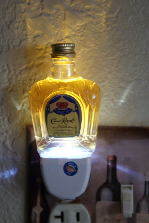 crown royal miniliquor bottle led night light by