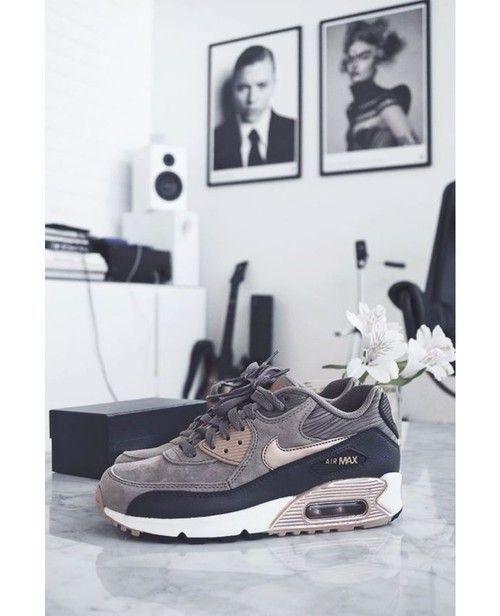 nike air max 90 rose gold bronze and grey