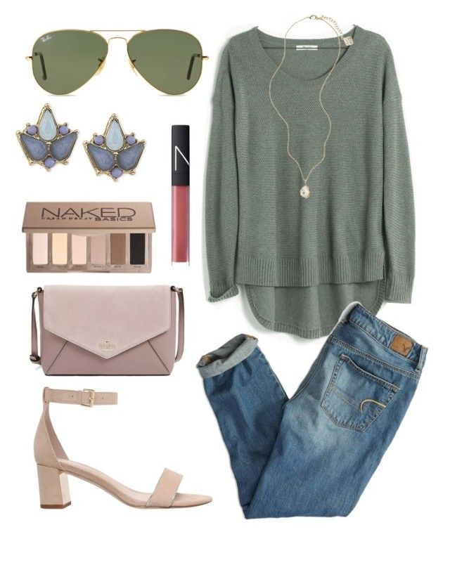 """""""Untitled #303"""" by juliacm-bush on Polyvore featuring Madewell, American Eagle Outfitters, Carolee, Kendra Scott, Kate Spade, Carvela, NARS Cosmetics, Ray-Ban and Urban Decay"""