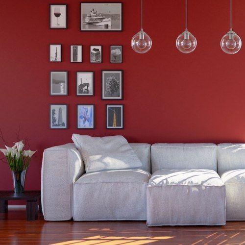 Oltre 25 fantastiche idee su pareti camera da letto rosso for Pareti colorate particolari