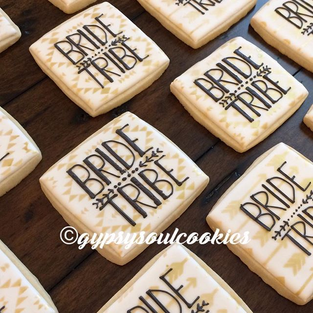 Bachelorette Party Cookies. gypsy soul cookies. bride tribe