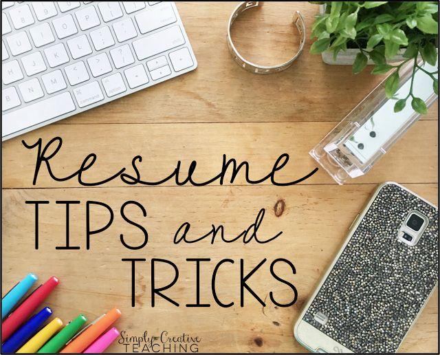 Teacher Resume Tips & Tricks | Simply Creative Teaching
