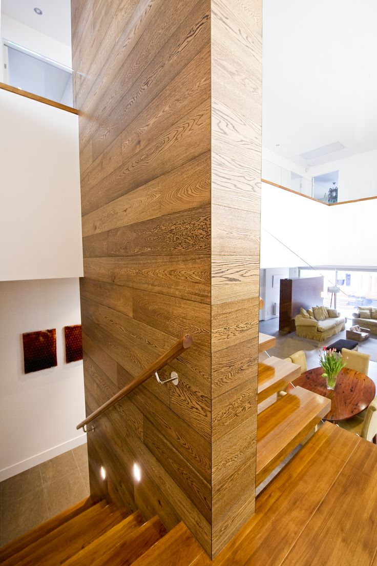 American Oak   Stained   Closed   Cantilevered   Stair   Design   Glass Balustrade   Feature   Concealed Steel String   Half Space Landing