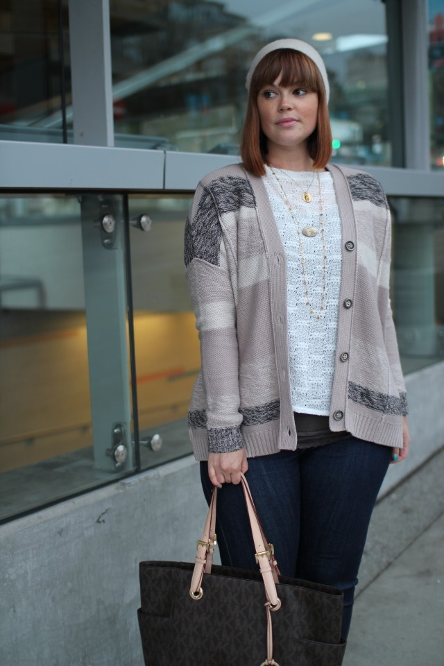 The Barrel of Fun necklace in two-tone worn by Jennifer of Prairie Girl in the City - http://www.prairiegirlinthecity.com/2013/03/natural-chic-layers/