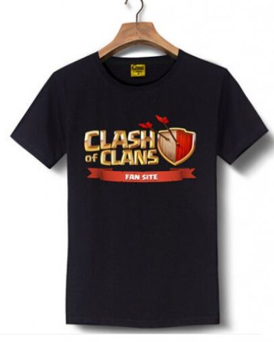 Clash of Clans fan site t shirt for men COC game tee short sleeve-