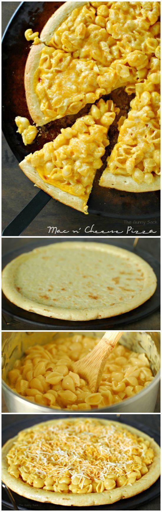 Macaroni and Cheese Pizza Recipe | Yummy Recipes | Pinterest