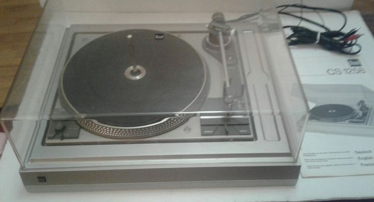 Vintage DUAL CS-1258 Turntable with Cover - Made in Germany Original Manual | eBay