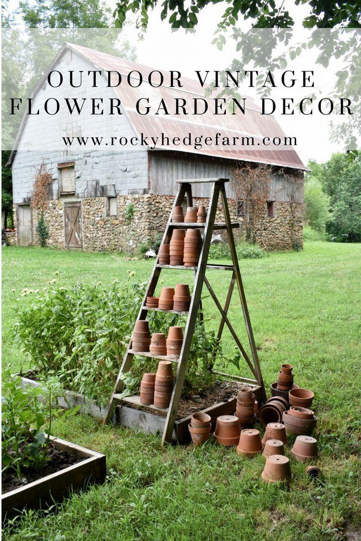 Outdoor Vintage Flower Garden Decor Farmhouse Garden Patio Garden Backyard Landscaping