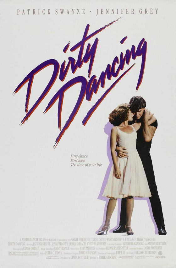 Dirty Dancing with Patrick Swayze and Jennifer Grey, 1987.