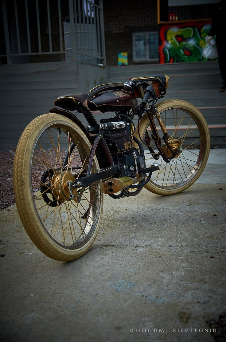 Custom moped 50 cc by asok customs single cylinder modified original frame