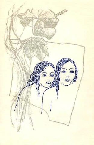 Two Girls with Flowers - Toyen