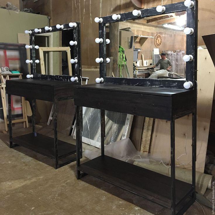 Купить Стол визажиста BRONX. - дизайнерское зеркало, набор гримера, стол, высокий стол