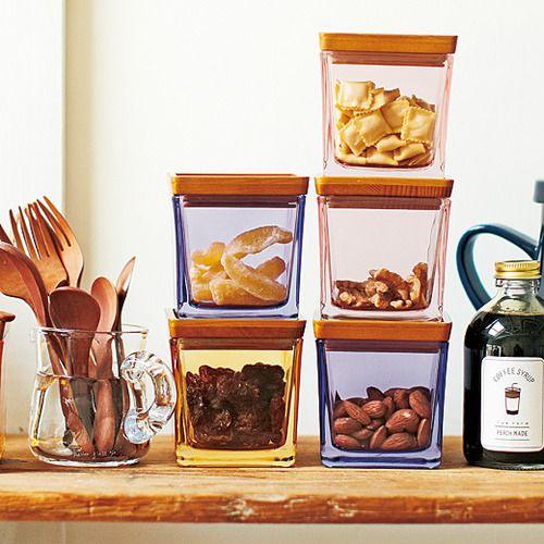 zakka collection [雑貨コレクション]|並べて積んで キッチンを彩る ガラスのキューブキャニスターの会|フェリシモ