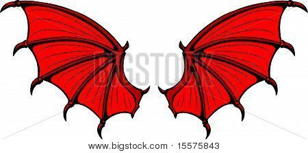 Room paint ideas red - Bigstock Danny Likes Pinterest Red Dragon Wings And Red