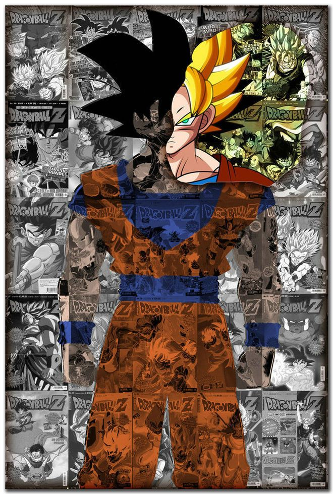 Barato Removível adesivo parede decoração Mural 20 x 30 polegadas venda Dragon Ball Z Goku Anime Poster, Compro Qualidade Papéis de parede diretamente de fornecedores da China:     1) Nós aceitamos Alipay, união ocidental, TT.  Todos os principais cartões de crédito são aceitos através do COMPROM