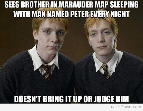 Never even thought of this lol: Thoughts, Harrypotter, Peter O'Tool, Funny, So True, Marauder Maps, Weasleytwin, Harry Potter, Weasley Twin