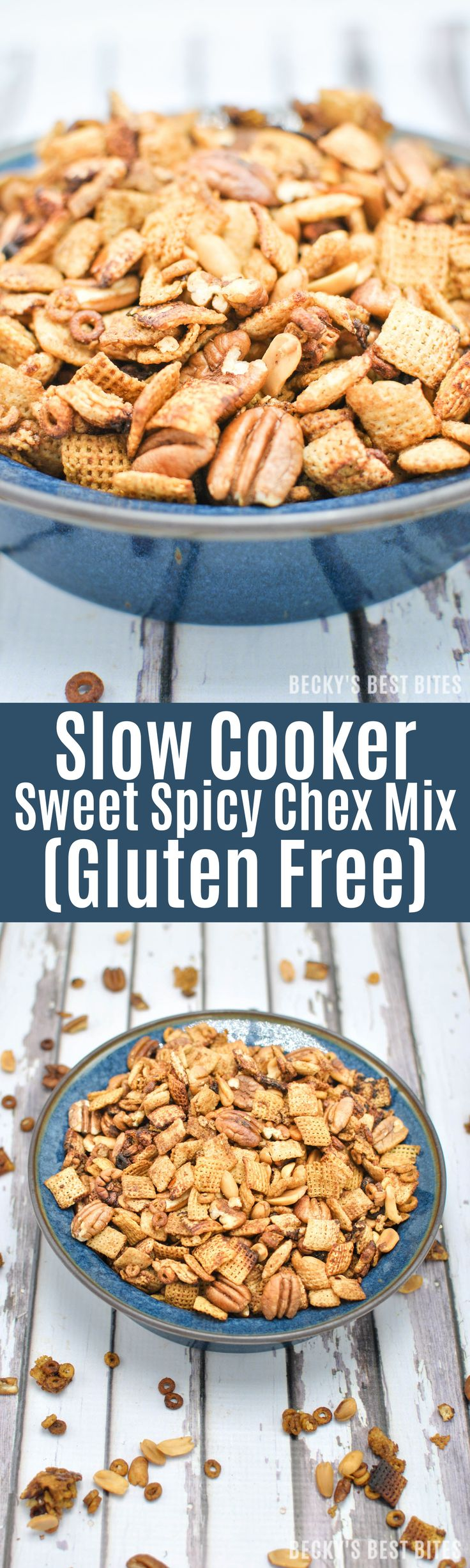 Slow Cooker Sweet Spicy Chex Mix Recipe (Gluten Free) is a healthier option for perfect the summertime snack. Learn about the variety and versatility of gluten free cereal at Publix and grab your coupon today! #GlutenFreeCereal #glutenfreecherrios #PublixGlutenFreeCereals #ad