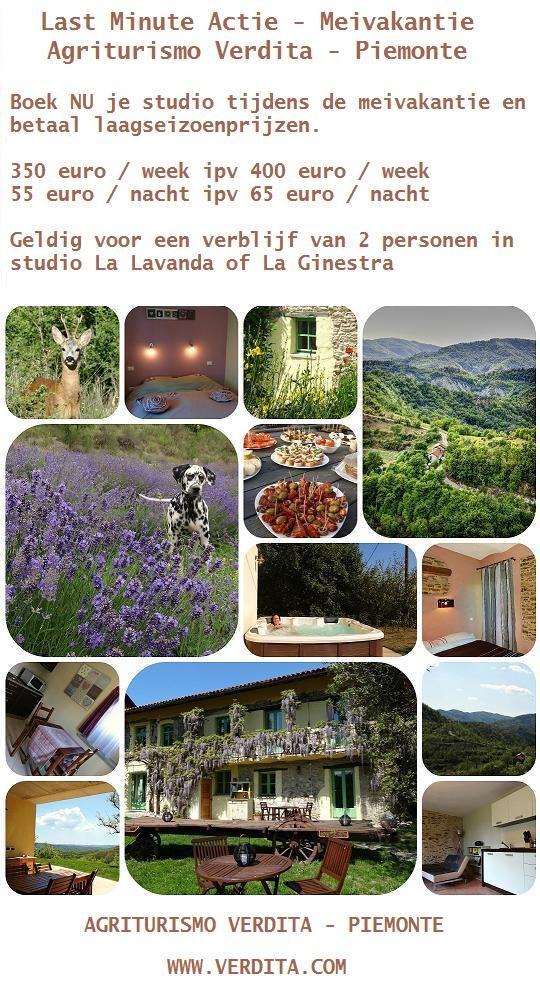 Last-minute actie meivakantie : studio's aan laagseizoenprijzen - Agriturismo Verdita, Piemonte, Italie.