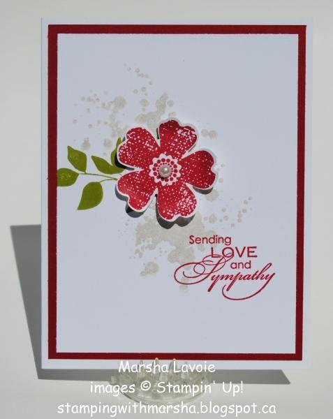 Sympathy card - SU! Gorgeous Grunge, Flower Shop