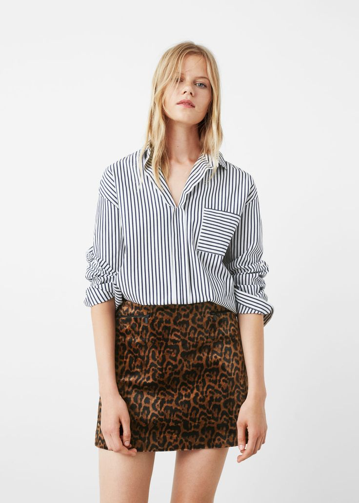 Leopard skirt -  Woman | MANGO United Kingdom