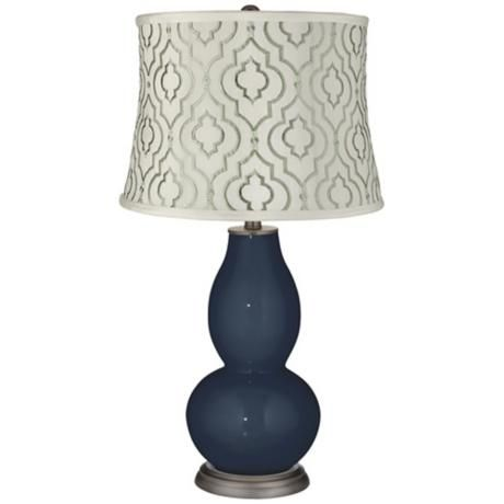 naval taj sea glass shade double gourd table lamp. Black Bedroom Furniture Sets. Home Design Ideas