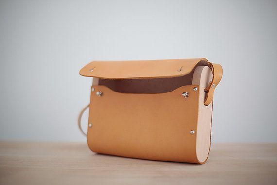 Leder-Holz-Bag / Leder Messengerbag mit Holz / Holz Leder Geldbörse / Schulter Tasche / Cross Body Bag / Damen Handtaschen braun