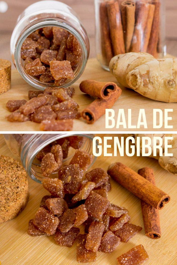 Bala De Gengibre Com Mel E Canela Com Imagens Bala De Gengibre