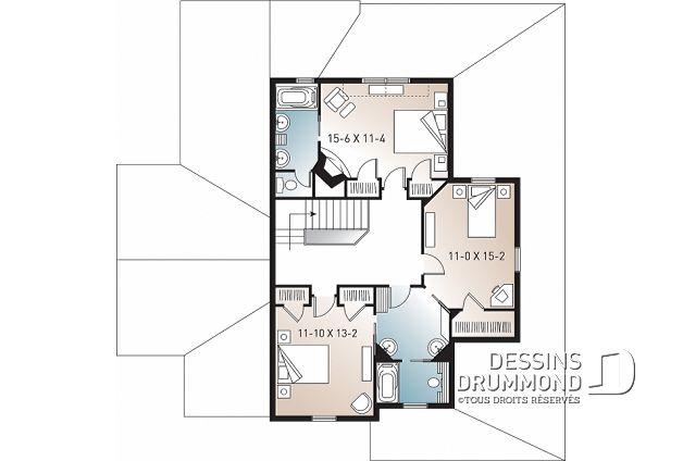 Plan De Maison Unifamiliale Midwest No 3926 Plan De Maison Unifamiliale Maison Unifamiliale Plan Maison