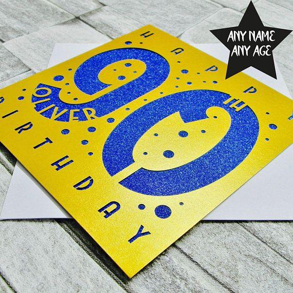 Personalised 90th Birthday Card 90th Birthday Card Age 90 Etsy 90th Birthday Cards Birthday Cards 90th Birthday