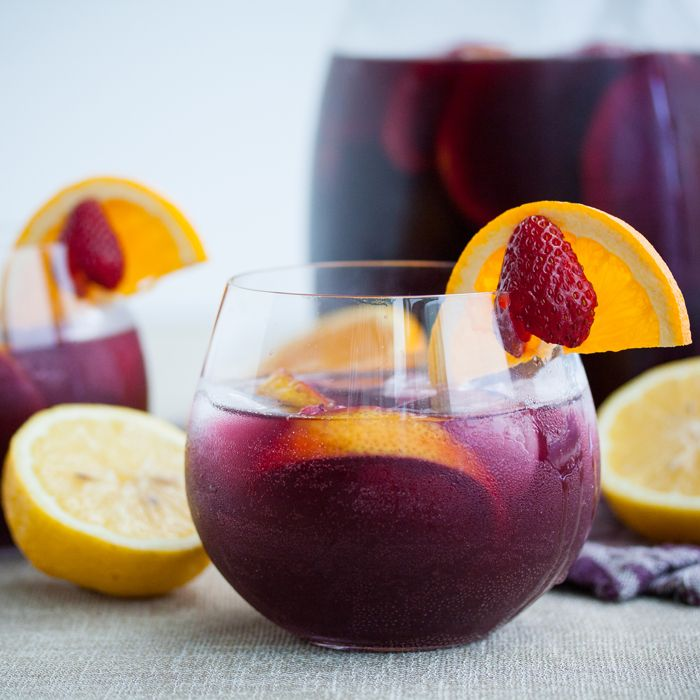 If you're going to indulge in an adult alcoholic treat, try this Red Wine Sangria with Strawberries (and no added sugar). A refreshing, make ahead wine punch perfect for BBQs!