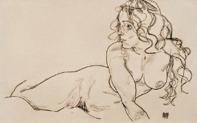 Erkölcs a művészetben, mit jelent ez… azt jelenti, hogy rajzolj néhány szép vonalat… (Németh György) - (Egon Schiele - Woman with Long Hair, 1918)