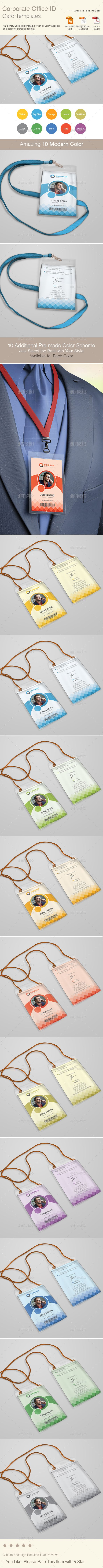 #Corporate #IDCard - Miscellaneous Print Templates.Download here: http://graphicriver.net/item/corporate-id-card/15716108?ref=arroganttype