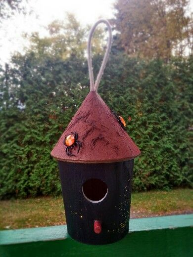My first Halloween Bird's house ^^)