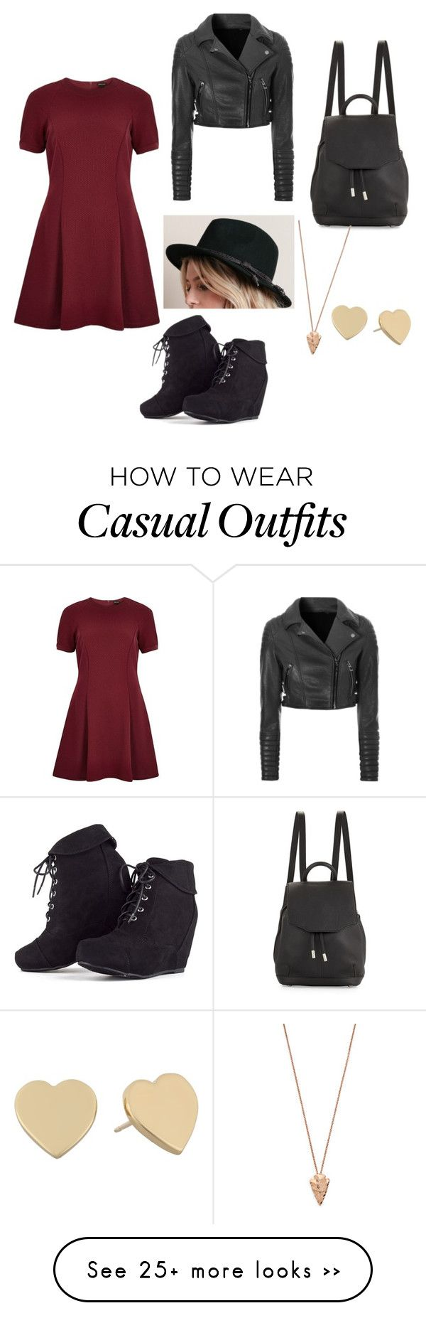 """""""Casual"""" by pieismycaffine on Polyvore featuring River Island, Glamorous, rag & bone, Kate Spade and Pamela Love"""