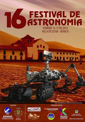 Afiche Oficial y Programación del XVI Festival de Astronomía de Villa de Leyva del 15 al 17 de febrero