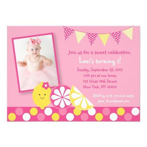 32 best pink lemonade party images on pinterest pink lemonade pink lemonade 1st birthday invitation stopboris Images