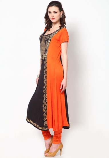 Orange Kurti - Ira Soleil Kurtas & kurtis for women | buy women kurtas and kurtis online in indium