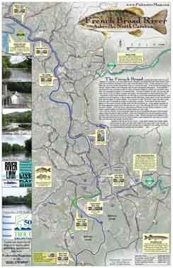 This river map and fly fishing guide shows approximately 30 miles of ...